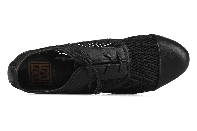 Chaussures à lacets Pour La Victoire Morina Noir vue gauche