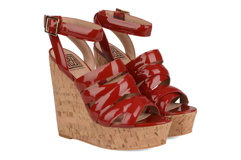 Sandales et nu-pieds Pour La Victoire Jessie Rouge vue 3/4
