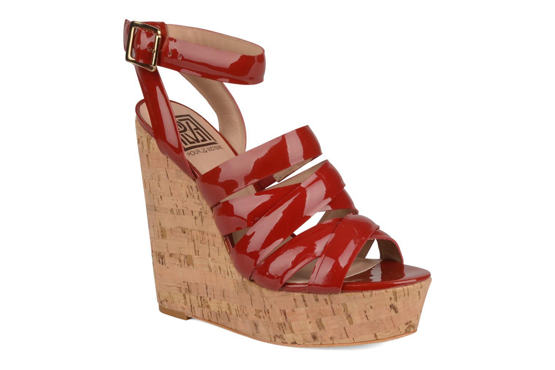 Sandals Pour La Victoire Jessie Red detailed view/ Pair view
