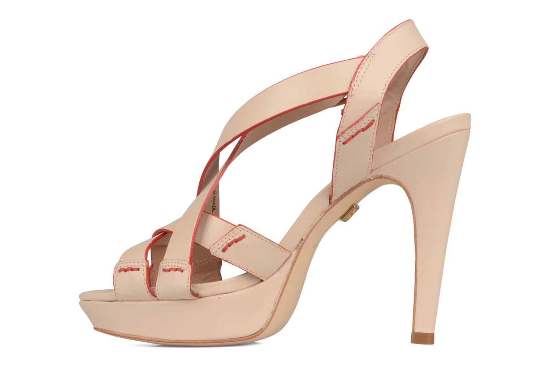 Sandales et nu-pieds Pour La Victoire Abigail Beige vue face