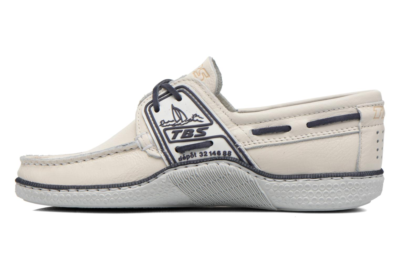 Chaussures à lacets TBS Globek Blanc vue face