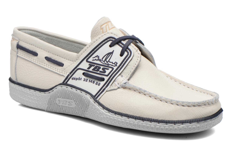 Chaussures à lacets TBS Globek Blanc vue détail/paire
