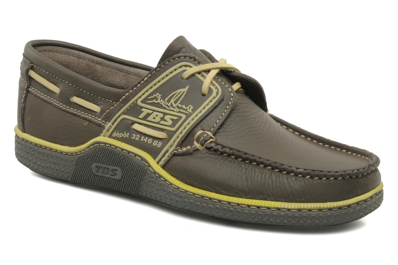 Zapatos con cordones TBS Globek Verde vista de detalle / par