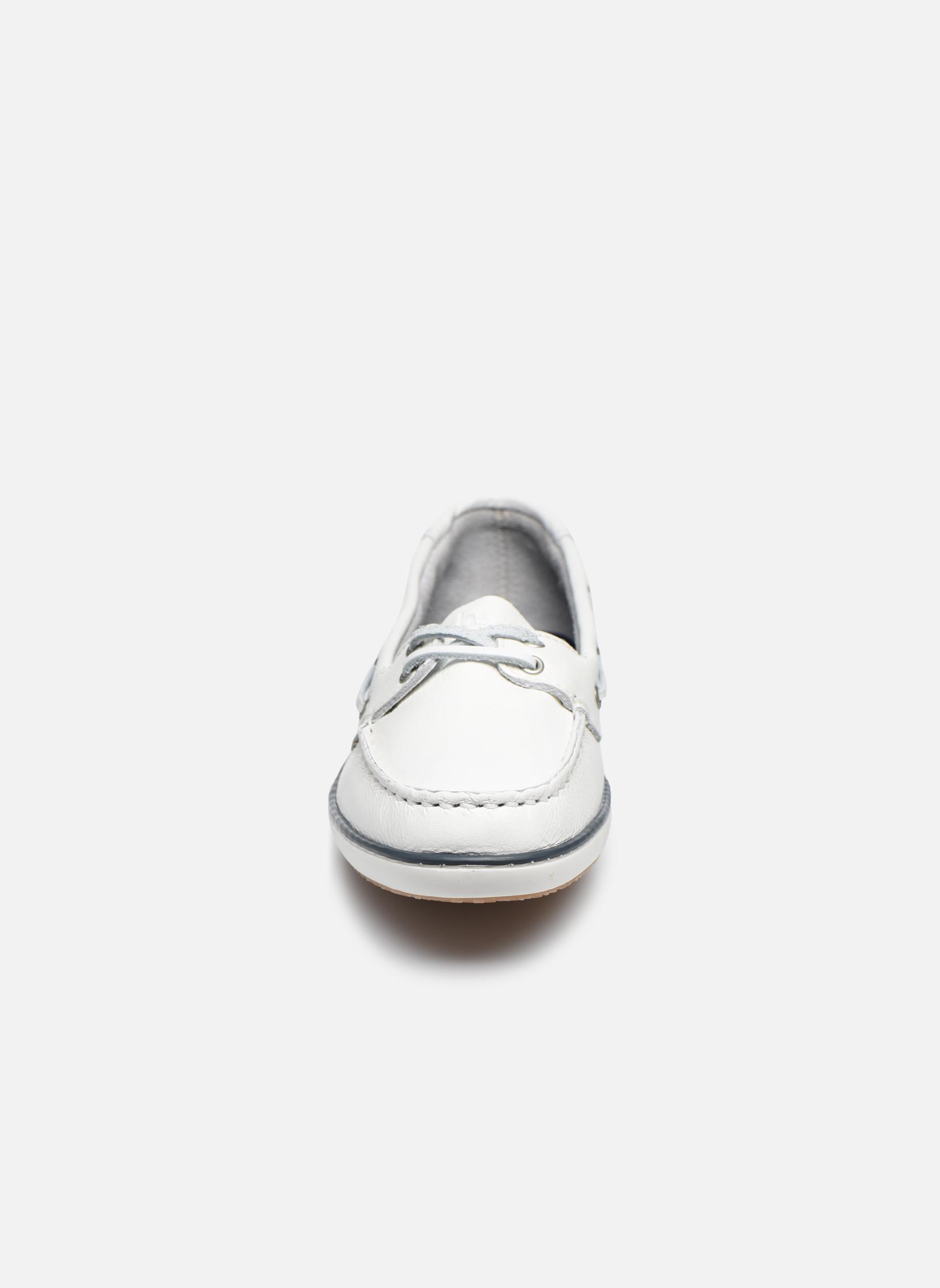 Chaussures à lacets TBS Clamer Blanc vue portées chaussures