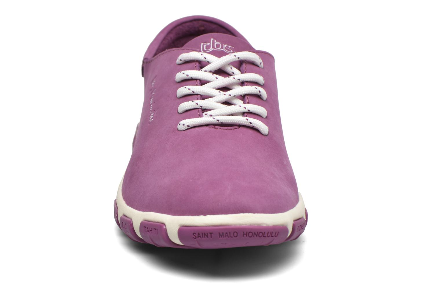Lace-up shoes TBS Jazaru Purple model view