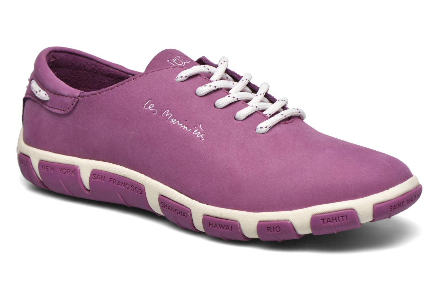 Lace-up shoes TBS Jazaru Purple detailed view/ Pair view