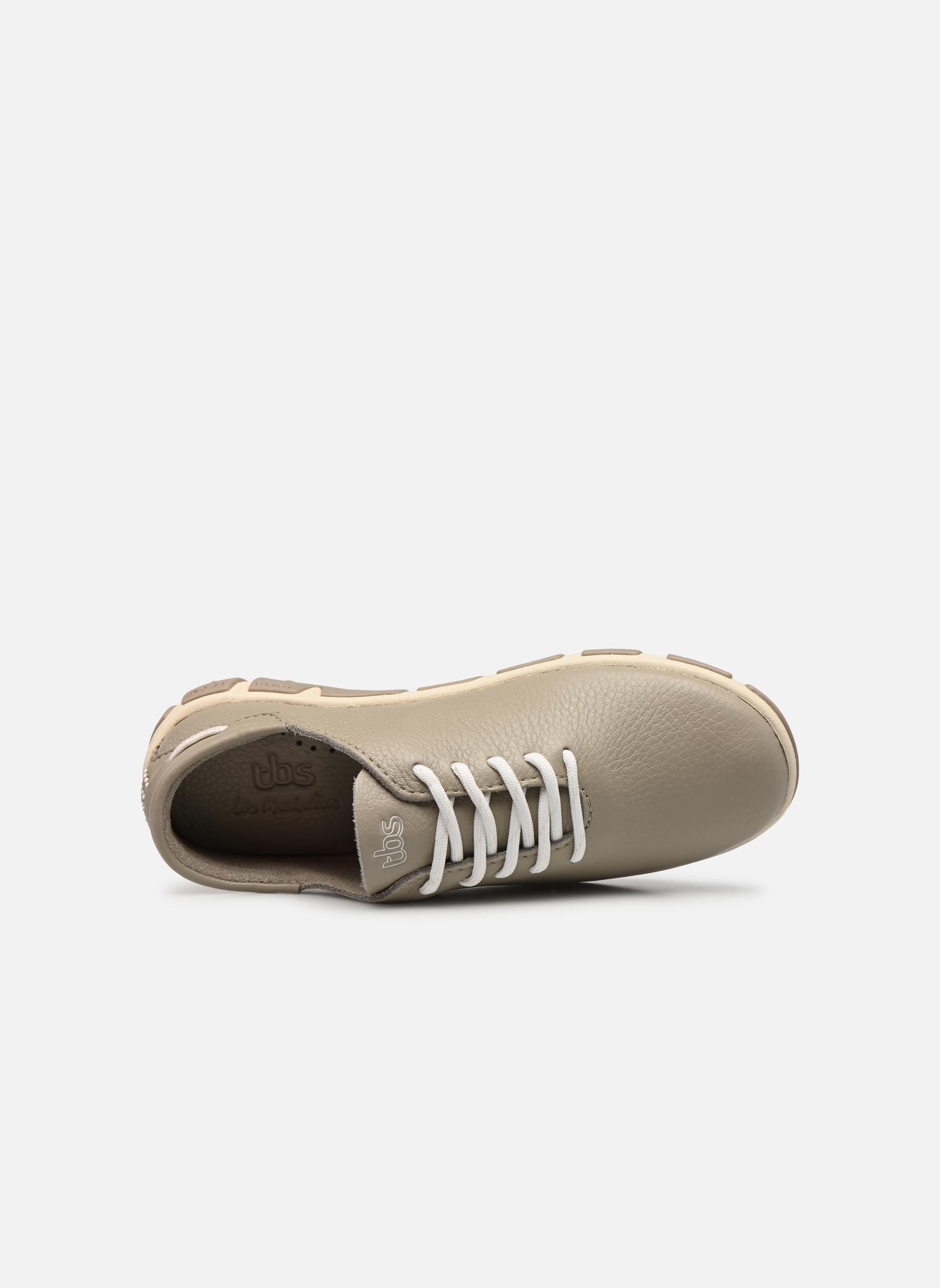 Zapatos con cordones TBS Jazaru Beige vista lateral izquierda
