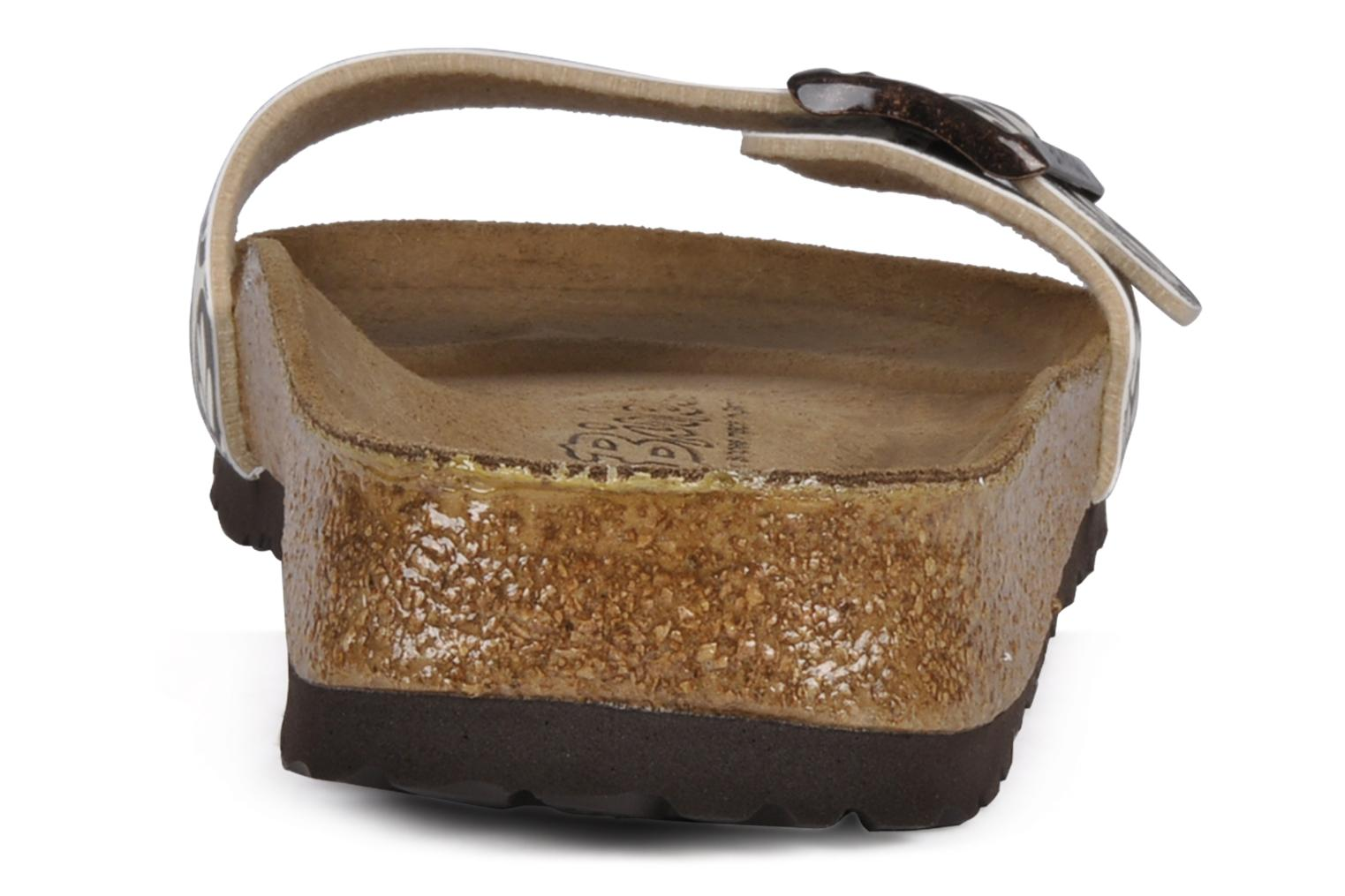 Sandals Birki's Valentin Flor M Brown view from the right