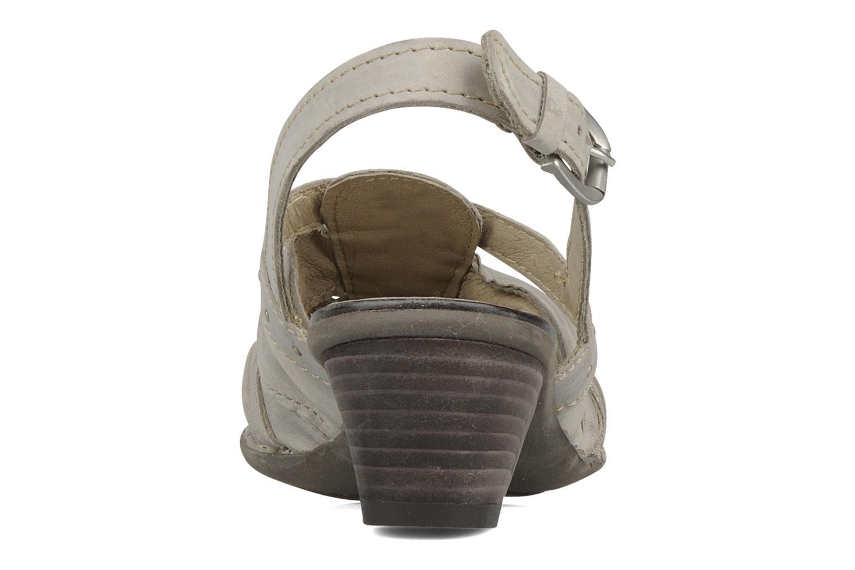 Sandales et nu-pieds Khrio Siane Gris vue droite