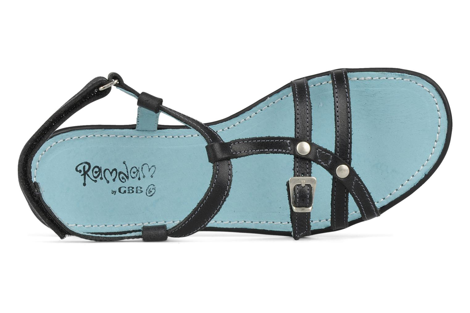 Sandals Ramdam by GBB Nanterre Black view from the left