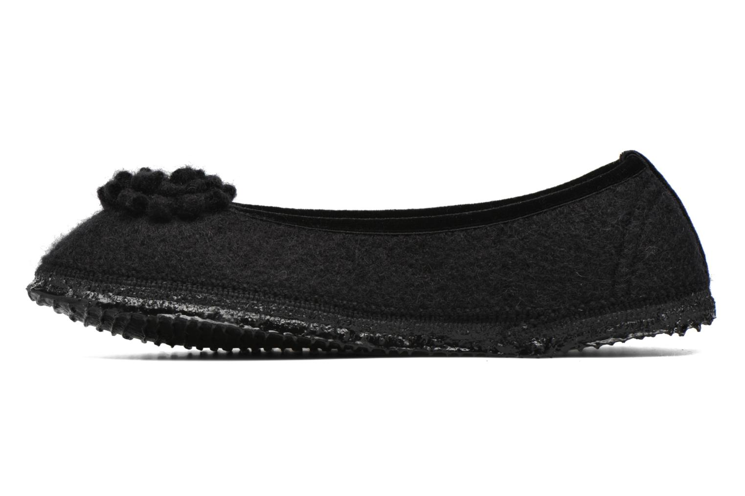 Slippers Giesswein Laubach Black front view