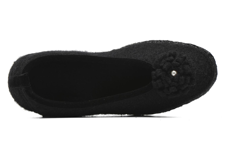 Pantofole Giesswein Laubach Nero immagine sinistra
