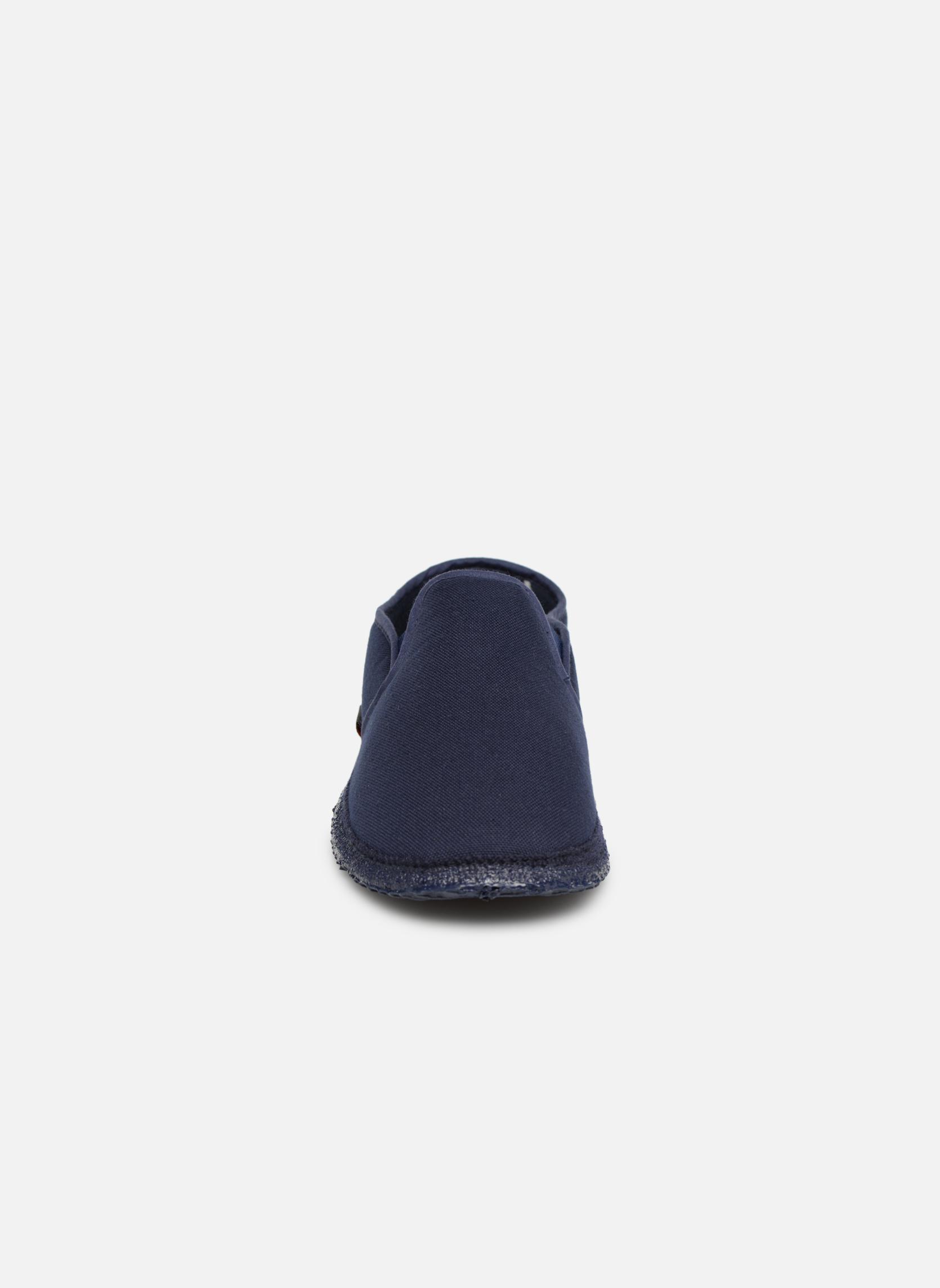 Chaussons Giesswein Berlin Bleu vue portées chaussures