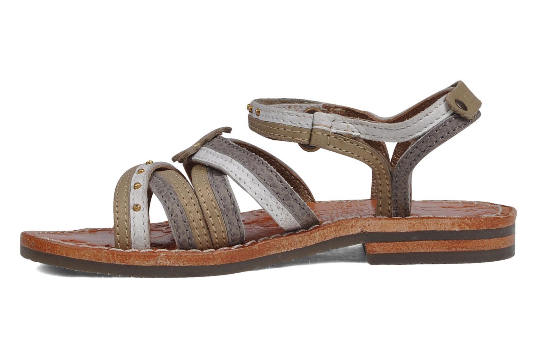Sandales et nu-pieds chipie bis Savana Gris vue face