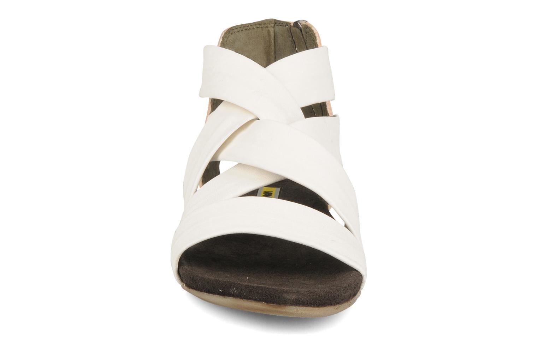 Sandales et nu-pieds Manas Lazos Blanc vue portées chaussures