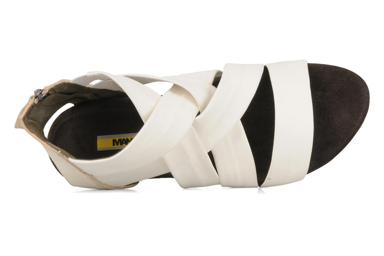 Sandales et nu-pieds Manas Lazos Blanc vue gauche
