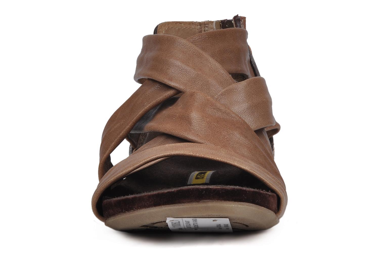 Sandales et nu-pieds Manas Lazos Gris vue portées chaussures