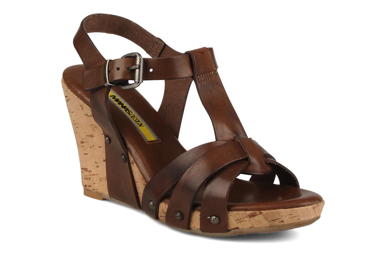 Sandales et nu-pieds Manas Valenta Marron vue détail/paire