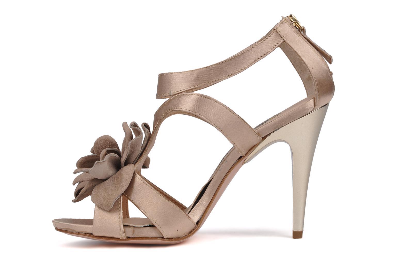 Sandalen Manas Floralia rosa ansicht von vorne