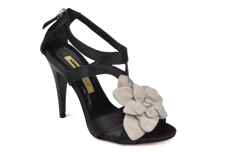 Sandalen Manas Floralia Zwart detail