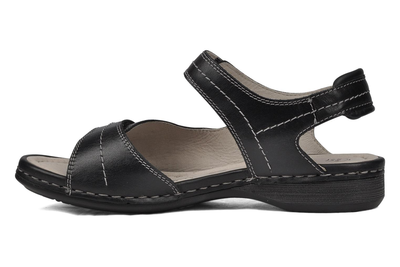 Sandales et nu-pieds Caprice Lysandra Noir vue face