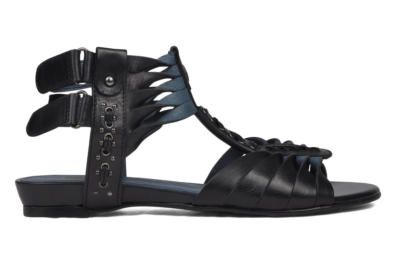 Sandales et nu-pieds Caprice Hyles Noir vue derrière