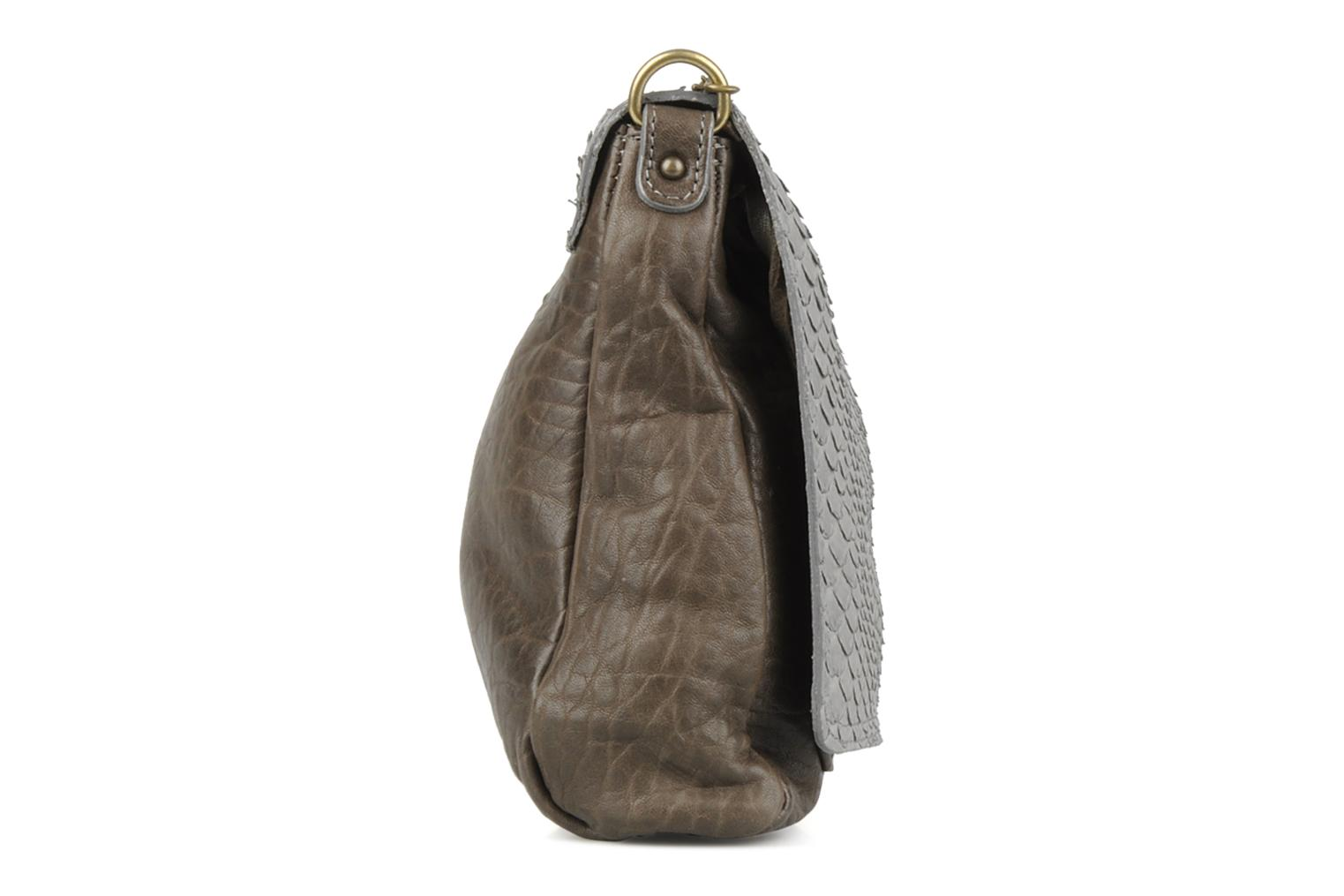 Clutch bags Abaco Charmy Grey view from the right