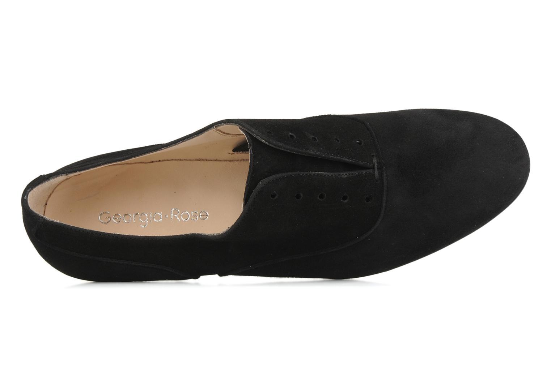 Chaussures à lacets Georgia Rose Saïan Noir vue gauche