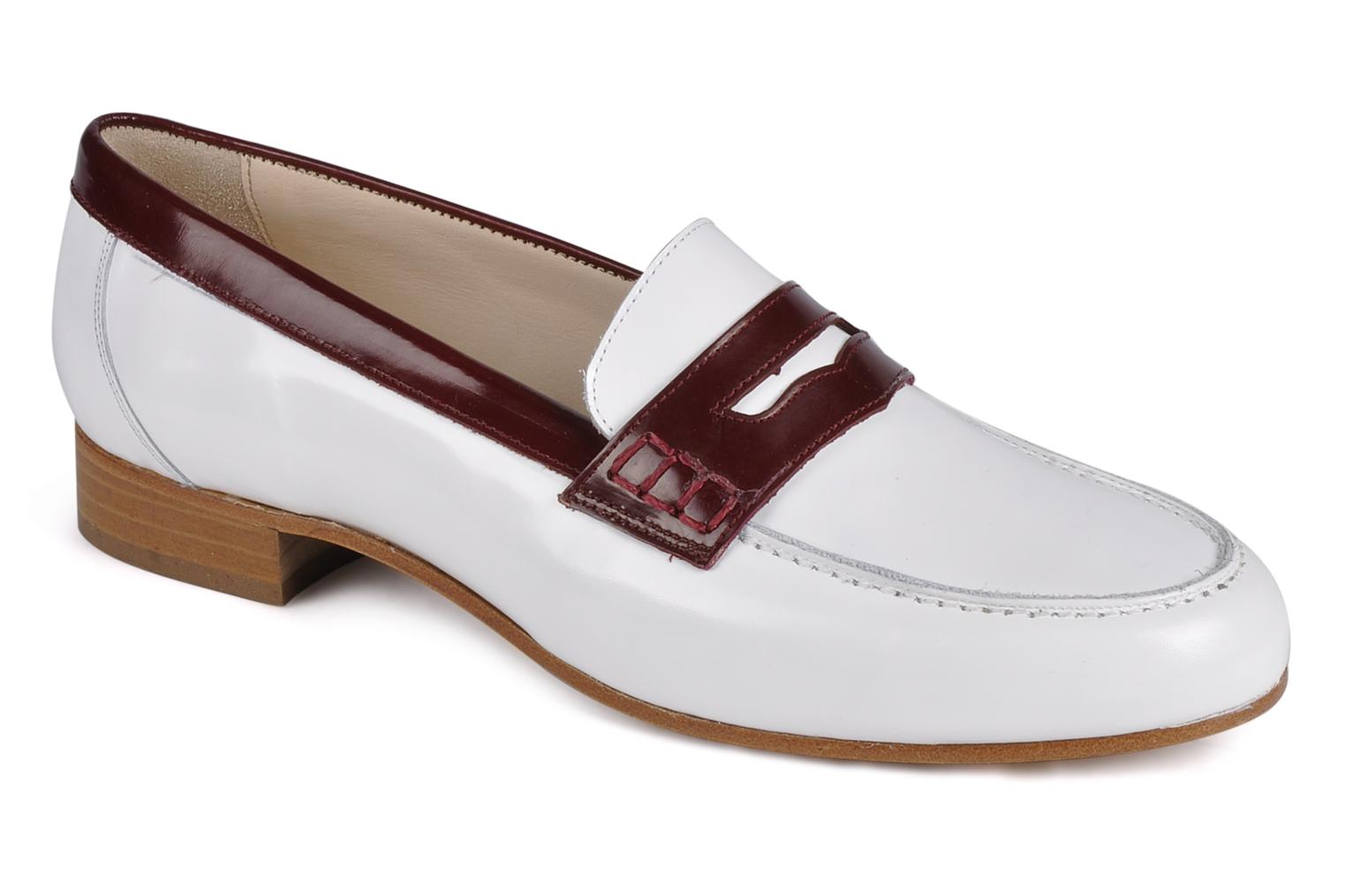 Loafers Georgia Rose Massaï White detailed view/ Pair view