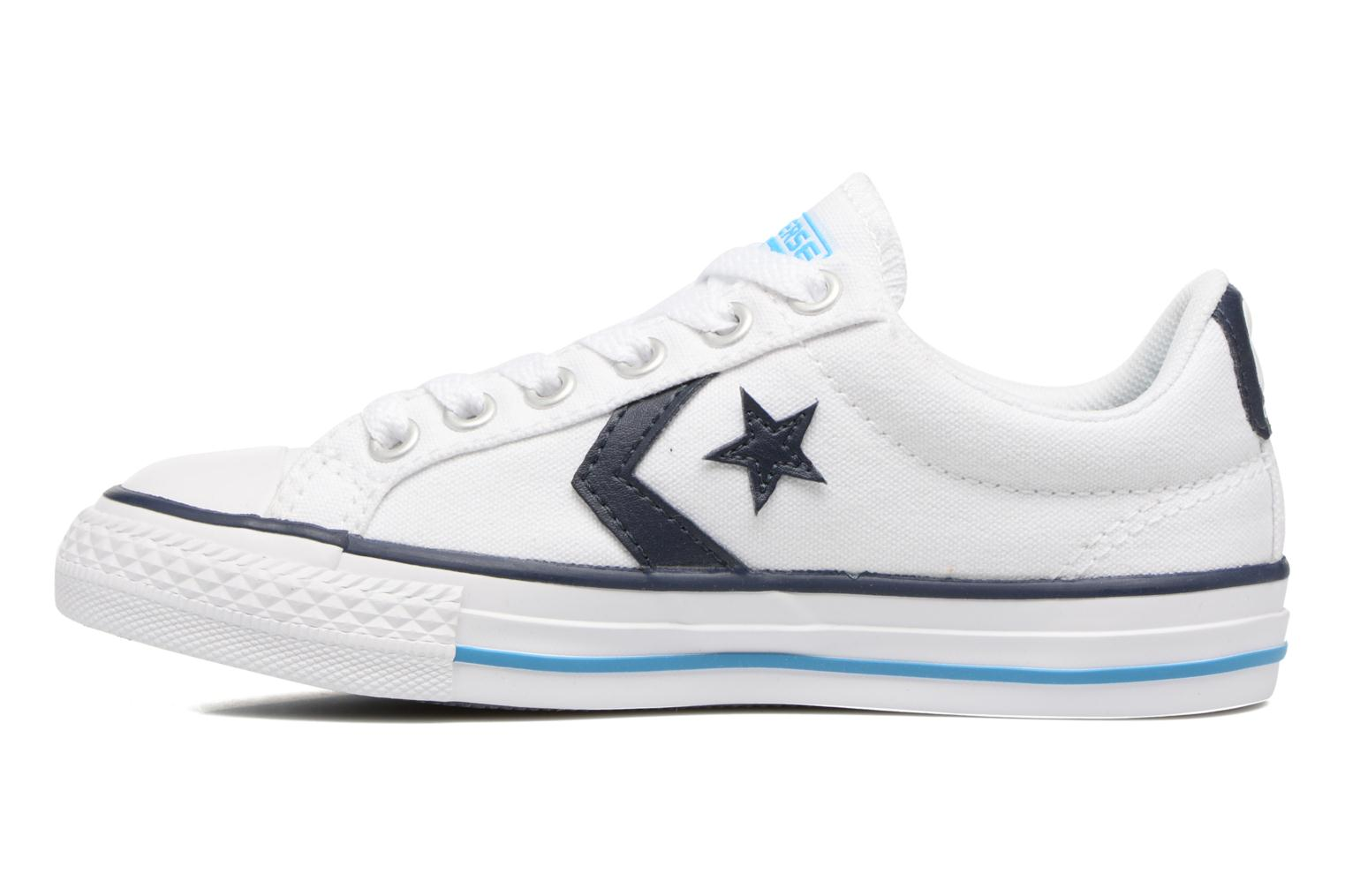 Sneakers Converse Star player canvas ox k Bianco immagine frontale