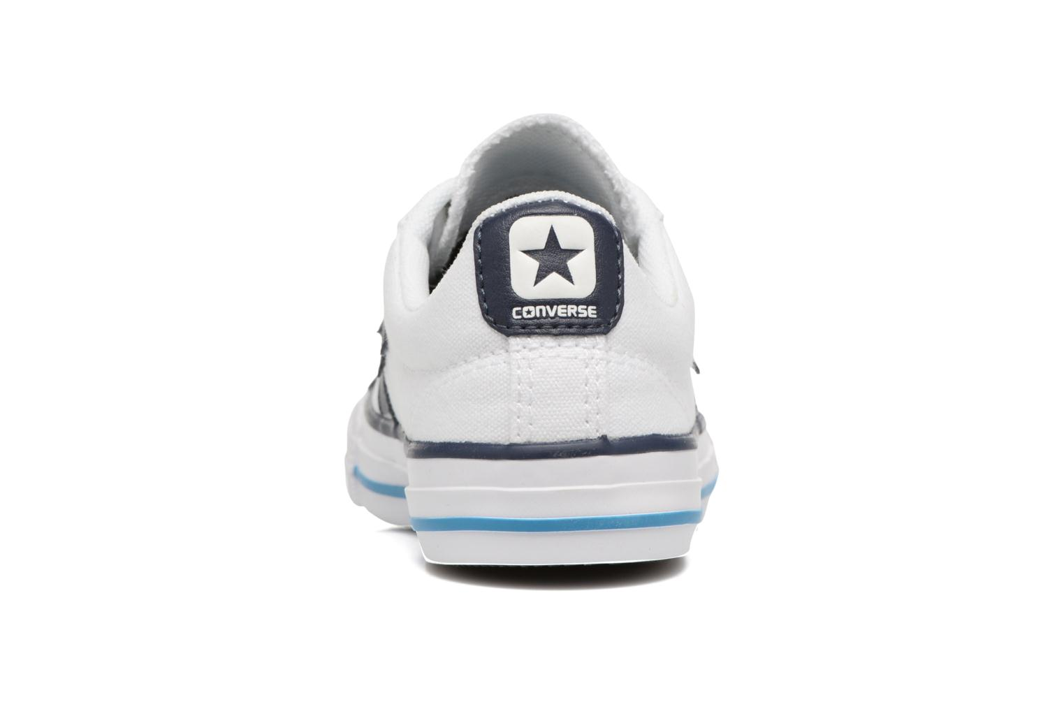 Deportivas Converse Star player canvas ox k Blanco vista lateral derecha