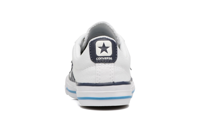 Deportivas Converse Star player canvas ox k Blanco vista lateral derecha