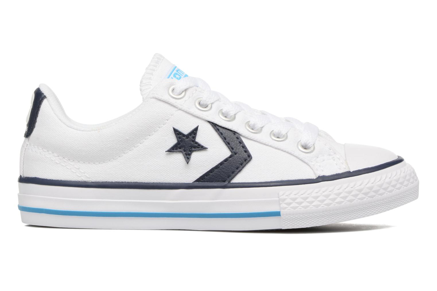 Deportivas Converse Star player canvas ox k Blanco vistra trasera