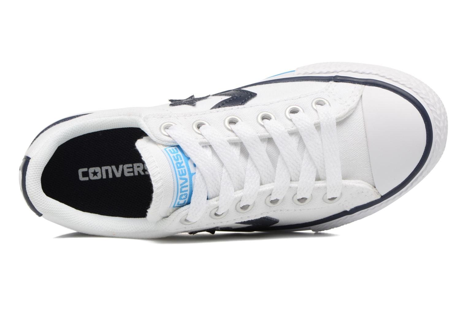 Deportivas Converse Star player canvas ox k Blanco vista lateral izquierda