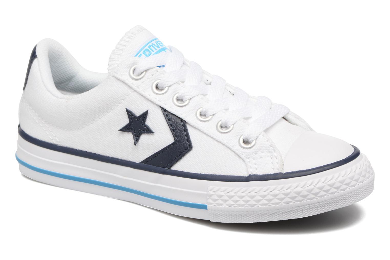 Deportivas Converse Star player canvas ox k Blanco vista de detalle / par