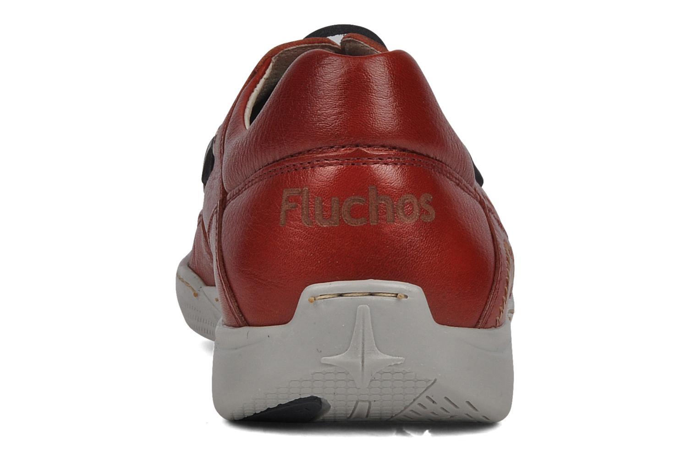 Zapatos con cordones Fluchos Desafio 7175 Rojo vista lateral derecha