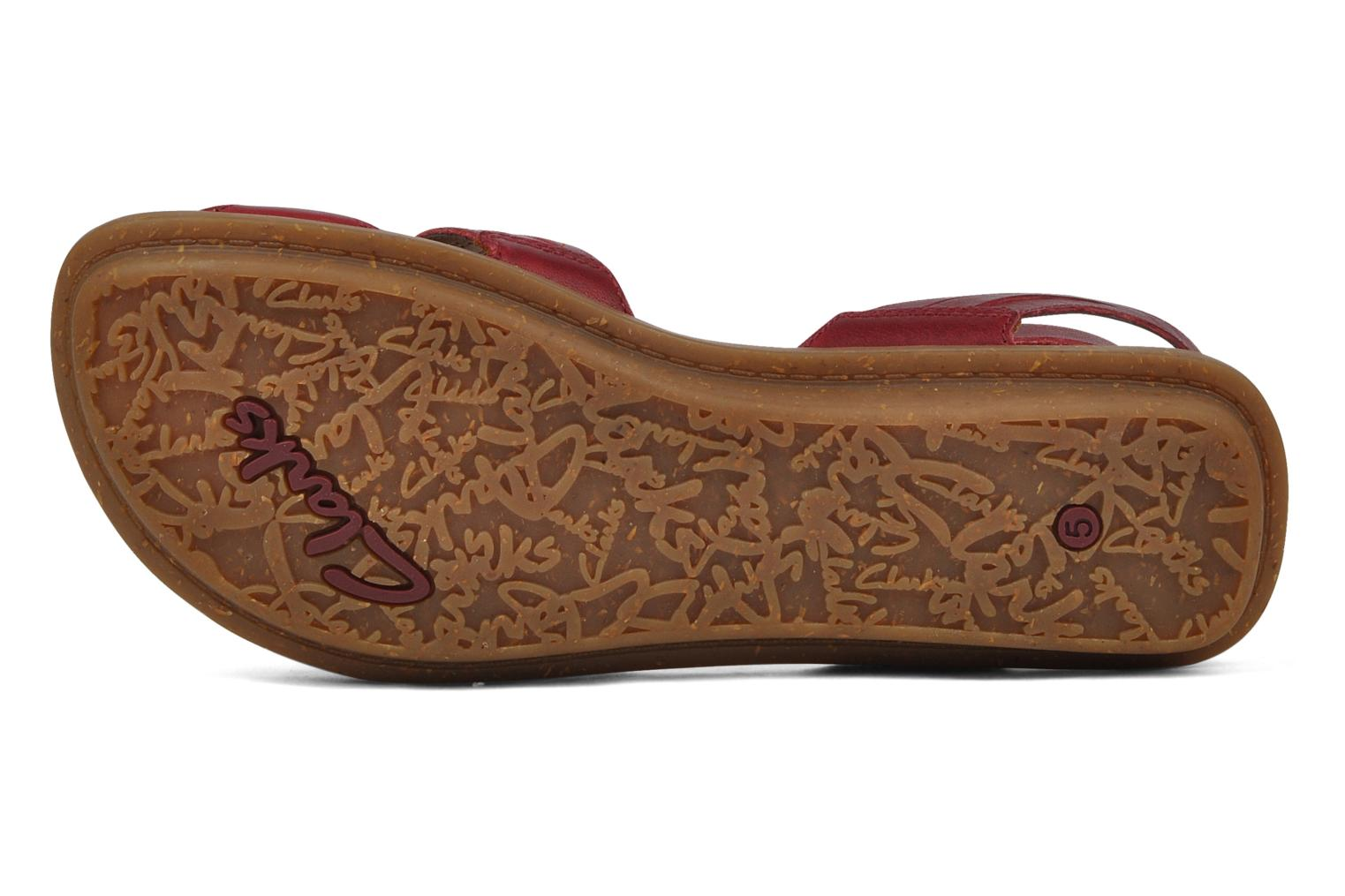 Sandals Clarks Powder mist Red view from above