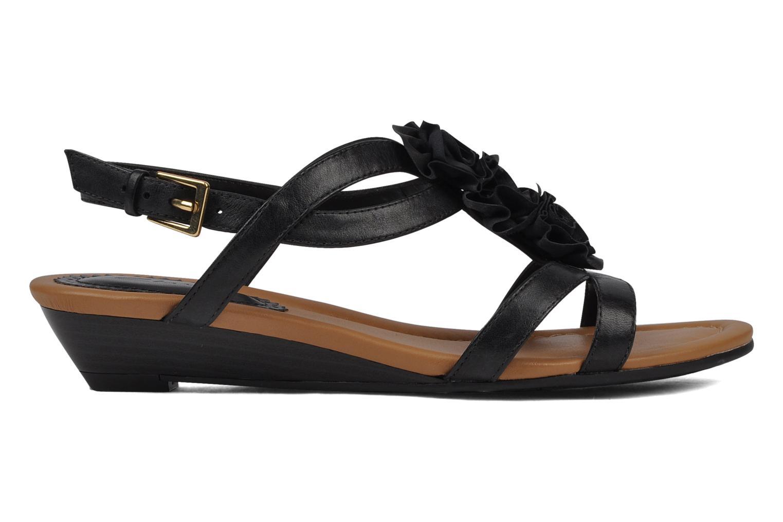 Sandales et nu-pieds Clarks Santa rock Noir vue derrière