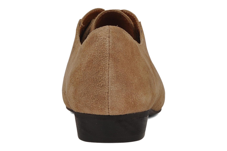 Chaussures à lacets Jeffrey Campbell Miller Beige vue droite
