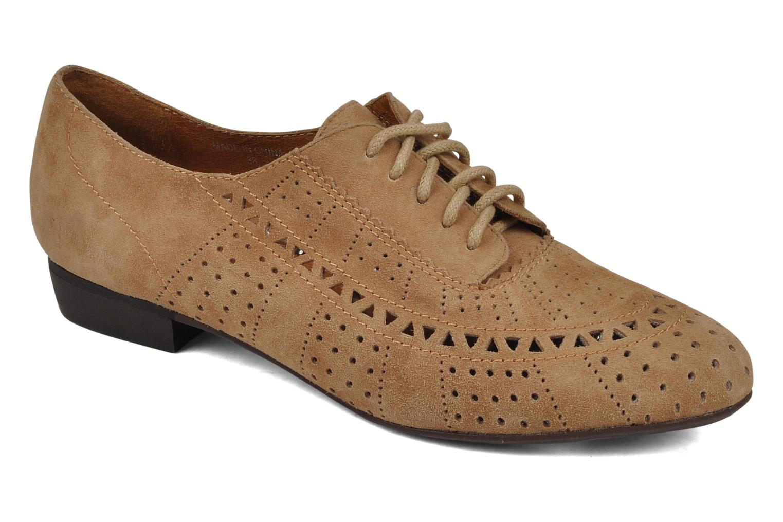 Chaussures à lacets Jeffrey Campbell Miller Beige vue détail/paire
