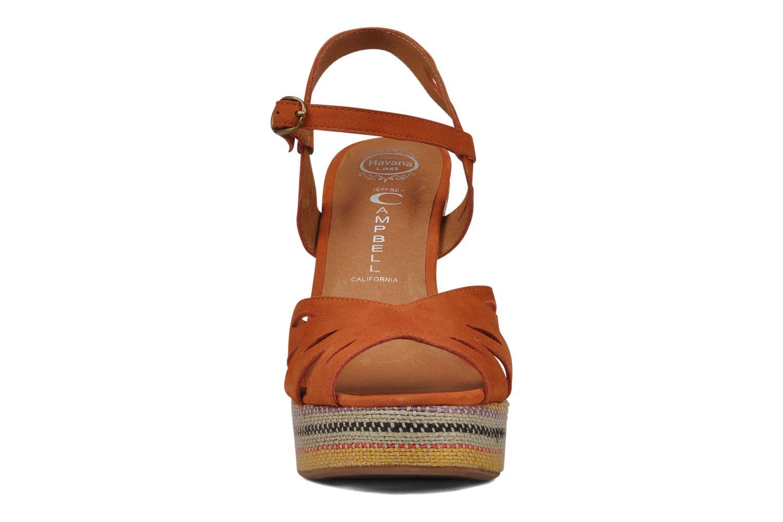 Sandales et nu-pieds Jeffrey Campbell Peaches Marron vue portées chaussures