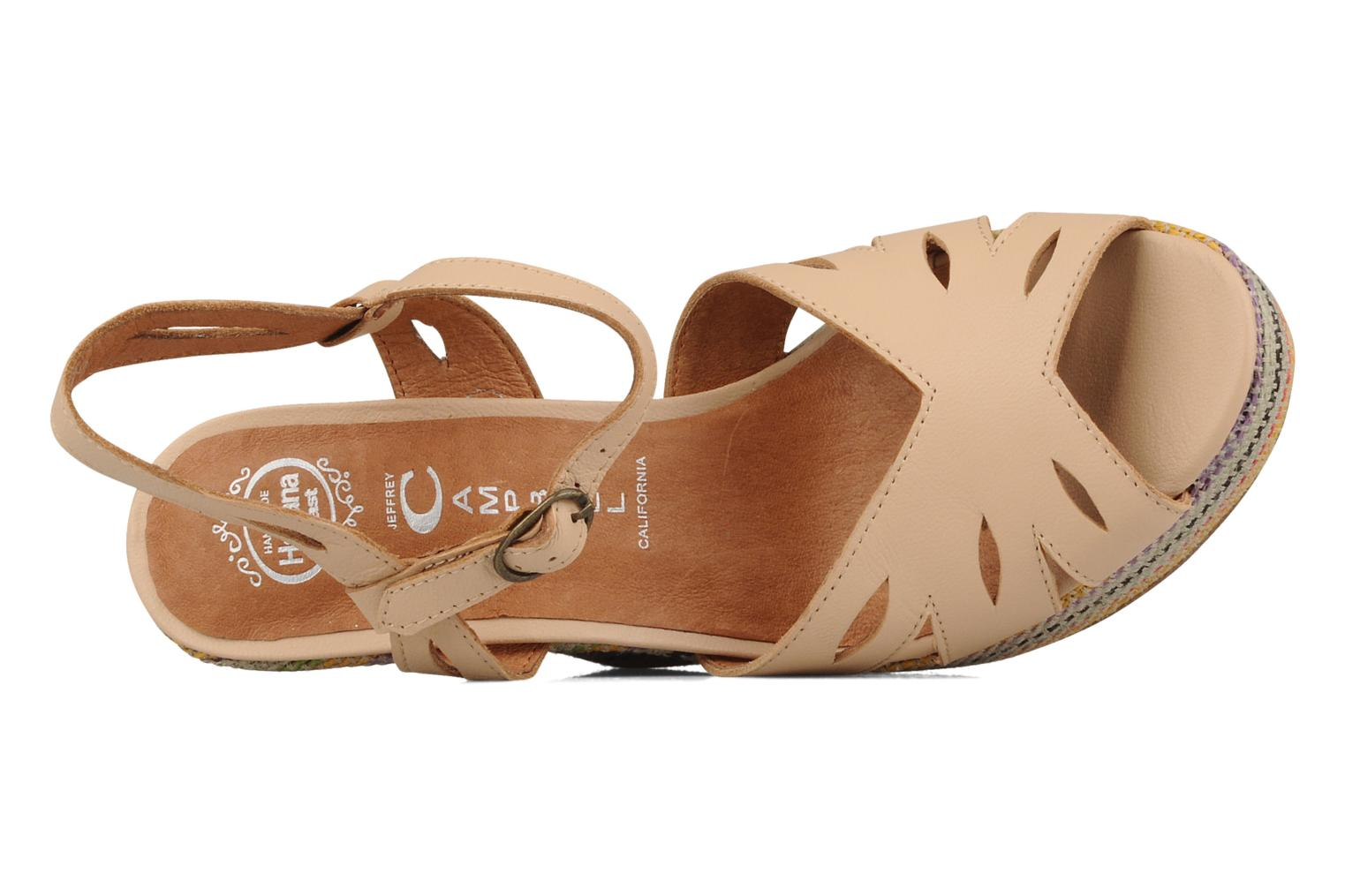 Peaches Nude- multicolor wedge