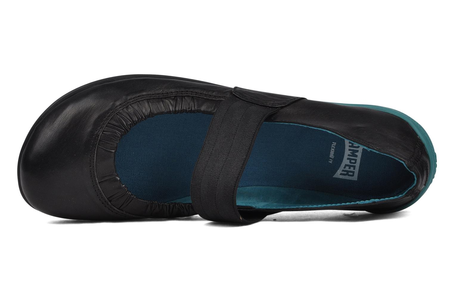 Ballet pumps Camper Peu circuit 21360 Black view from the left