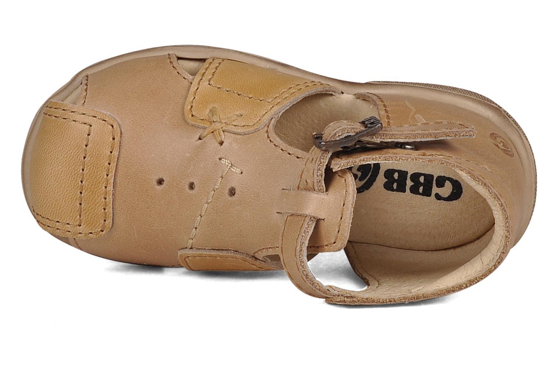 Sandales et nu-pieds GBB Lionel Beige vue gauche