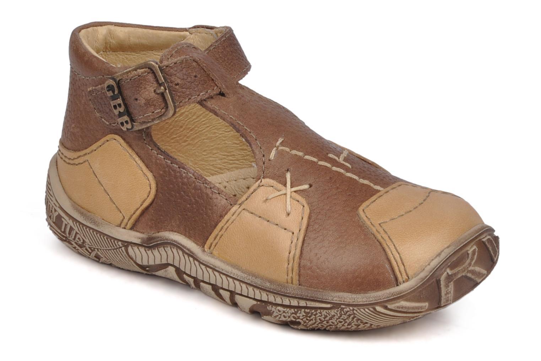 Bottines et boots GBB Loic Marron vue détail/paire