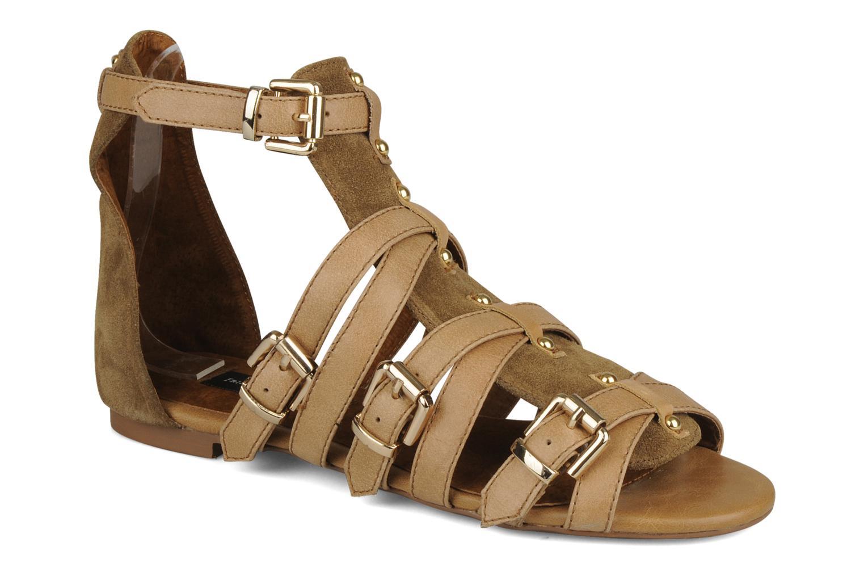 Sandaler Friis & company Varinka Brun detaljeret billede af skoene