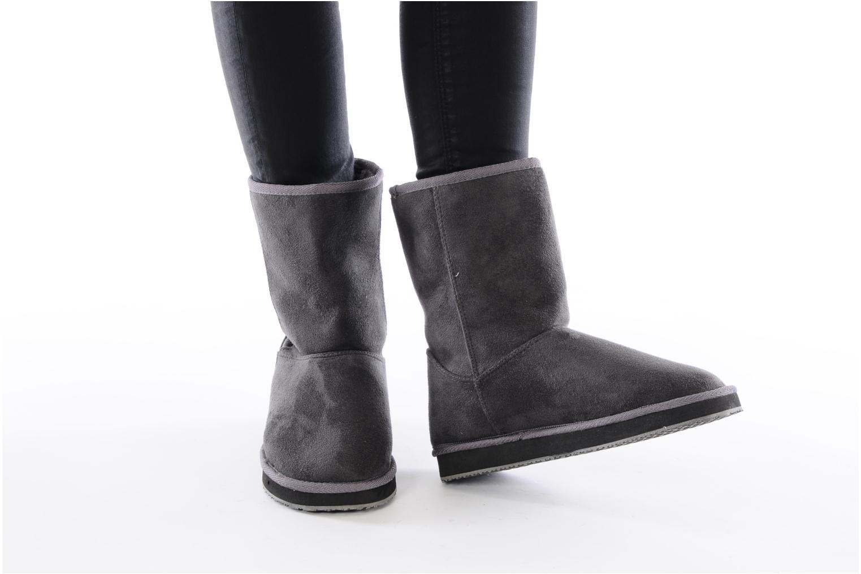 Bottines et boots Buffalo Delfina Gris vue bas / vue portée sac