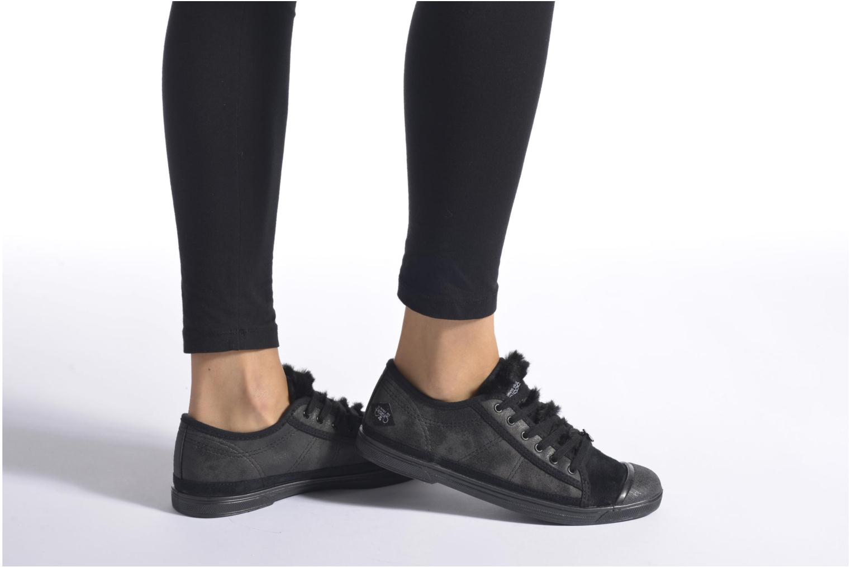 Sneaker Le temps des cerises Basic 02 rosa ansicht von unten / tasche getragen