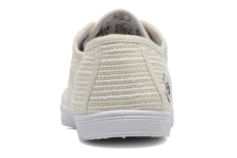 Sneakers Le temps des cerises Basic 02 Wit rechts