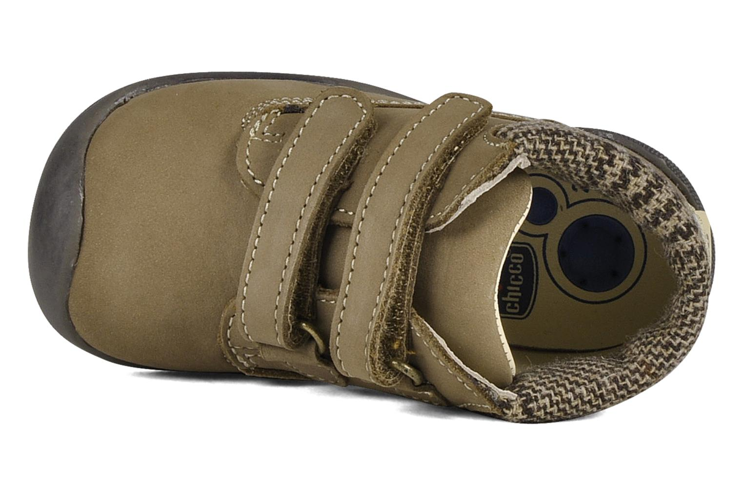 Velcro shoes Chicco Guapito Brown view from the left